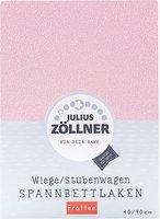 Zöllner Spannbettuch Frottee rosa (40 x 90)