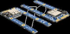 DeLock MiniPCIe I/O 1 x USB 2.0 Typ A Buchse full size / half size (95235)