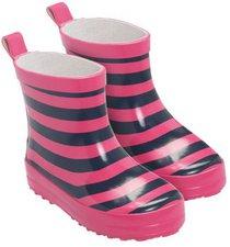 Playshoes Baby Gummistiefel Ringel marine/pink