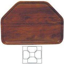 Contacto Trapez-Tablett Nußbaum-Dekor 47x32 cm