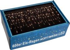 Maxstore Lichterkette Eisregen warmweiß 600 LEDs