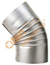 Muldenthaler Bogen gerippt 45° ohne Reinigungsöffnung (2BG45)
