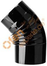 Muldenthaler Bogen gerippt 45° ohne Reinigungsöffnung emailliert ø 120 mm (1BG45120)