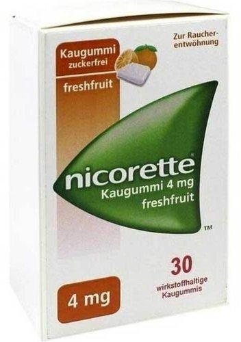 Pharma Gerke Nicorette 4 mg Freshfruit Kaugummi (30 Stk.)