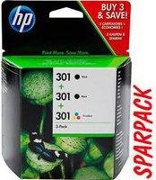 Hewlett Packard HP Nr. 301 (E5Y87EE) 2xSchwarz + Farbe