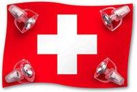 Waldi Deckenlampe Schweizer Flagge 4-flg.