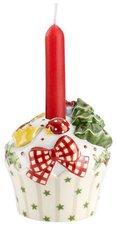 Villeroy & Boch Winter Bakery Decoration Kerzenhalter beige Cupcake rot (7 cm)