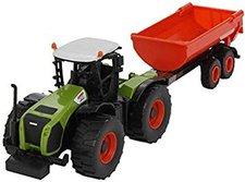 Norev Traktor Claas Xerion 5000 + Jet Car Anhänger
