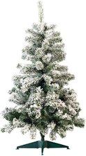 infactory Künstlicher Weihnachtsbaum im Schneedesign 120 cm 199 PVC-Spitzen