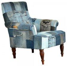 SalesFever Einzelsessel Indigo Patchwork Jeans klein