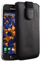 Mumbi Ledertasche schwarz (Samsung Galaxy S4 mini)