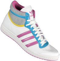 Adidas Top Ten Hi Sleek W Leather running white/joy orchid/rhythm yellow