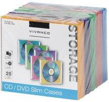 Vivanco 31700 CD/DVD Slim Case (25er Pack)