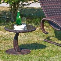 Siena Garden Rio Beistelltisch Ø 50cm (Polyrattan-Glas)