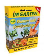 Beckmann - Im Garten Blumen- und Gemüsedünger 2,5 kg