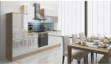 Respekta Küchenzeile Lea weiß (280 cm)