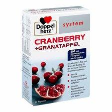 Doppelherz System Cranberry + Granatapfel Kapseln (30 Stk.)