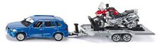 Siku PKW mit Anhänger und Motorrad (2547)