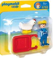 Playmobil 123 - Bauer mit Schubkarre (6793)