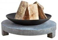 Esschert Feuerstelle Granito auf rundem Granitsockel 68 cm