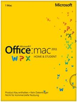 Microsoft MS Office 2011 Home and Student (DE) (Mac) (PKC)