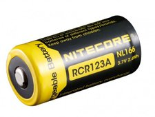 Nitecore RCR123A Li-ion Battery NL166 3,7V 650 mAh