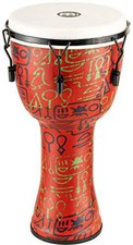 Meinl Travel Mechanical Tuned Synthetic Djembe Pharaoh's Script 12 ""