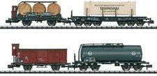 """Trix Set 4 Güterwagen  """"Tor zur Welt """" DB (15421)"""