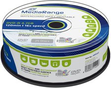 MediaRange DVD-R 4.7GB 120min 16x bedruckbar 25er Spindel