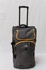 4You Travel Trolley M grey yellow zipper