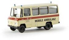 Brekina Mercedes-Benz O 309 Bus DRK Mobile Ambulanz (36705)