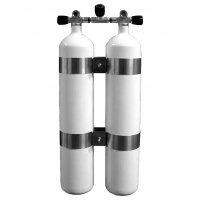 Polaris Diving Tauchflasche Stahl Doppelgerät 2 x 8,5 L 232 bar