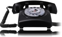 Opis 60s Cable Retrotelefon schwarz