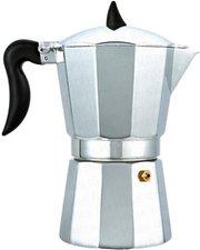 KaiserHoff Espressokocher Aluminium 6 Tassen