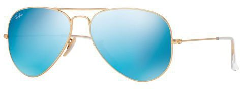 Ray Ban Aviator Large Metal RB3025 112/17 (gold matt/blue mirror)