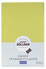 Zöllner Spannbetttuch Jersey grün (70 x 140 cm)
