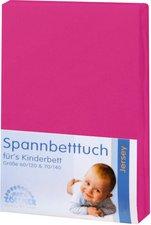 Zöllner Spannbetttuch Jersey pink (70 x 140 cm)