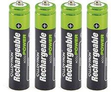 Lloytron AAA NiMH Rechargeable Accu Digital Batterie 1,2 V 550 mAh (4 St.)