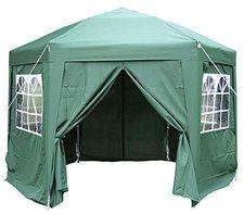 ESC Ltd Airwave Pop-Up-Pavillon, 3,5 m, sechseckig, grün