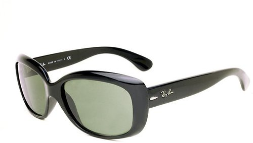 Ray-Ban Jackie Ohh RB4101 601/58 (black/polarized green)