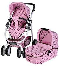 Knorr Coco Puppenkombiwagen mokka dots pink