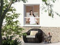 wip GmbH Insektenschutzrollo für Fenster (100 x 160 cm)