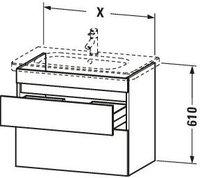 Duravit DuraStyle Waschtischunterschrank (DS648104318)