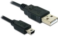 DeLock Kabel USB 2.0-A > USB mini-B 5 Pin 1m Stecker / Stecker (82273)