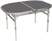 Bo-Camp Tisch oval alu 120 x 80 cm