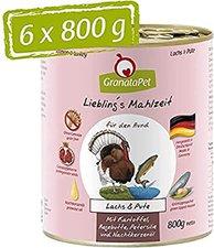 GranataPet Lieblingsmahlzeit Lachs & Pute, Kartoffel, Hagenbutten (800 g)
