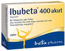 beta pharm Ibubeta 400 akut Filmtabletten (50 Stk.)