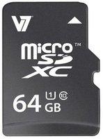 V7 MicroSDXC 64GB Class 10 (VAMSDX64GUHS1R-2E)