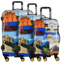 Saxoline National Geographic 4-Rollen Trolley-Set 3-tlg. 55/69/78 cm