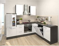 Respekta Premium L Küche Eiche-grau weiß (260x200 cm)
